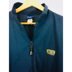 Navy Blue Vtg. OP 1/4 Zip Windbreaker